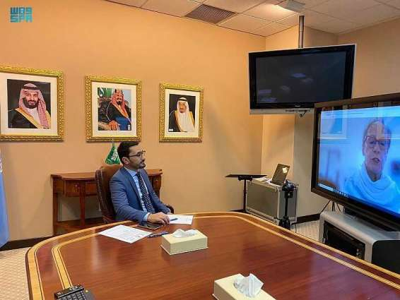 الحقباني يلتقي نائبة الممثل الخاص للشؤون السياسية والمساعدة الانتخابية في بعثة الأمم المتحدة لمساعدة العراق