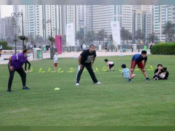 """"""" الشارقة الرياضي """" يختتم فعالية رياضة قبل الإفطار بمشاركة 10 آلاف شخص"""