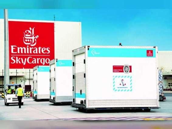 """""""الإمارات للشحن الجوي"""" تكمل عاما على بدء تحميل الشحنات الطارئة على المقاعد وفي الخزائن العلوية"""
