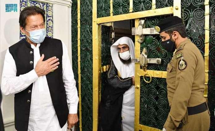 دولة رئيس وزراء باكستان الإسلامية يزور المسجد النبوي
