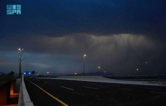هطول أمطار على المدينة المنورة