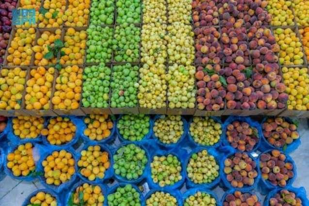 سلّة غذائية قيّمة للمحاصيل الزراعية تشهدها أسواق الباحة