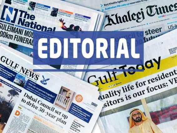 UAE Press: Eid spells hope again, amid virus gloom