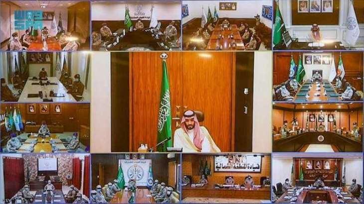 سمو ولي العهد يعايد منسوبي وزارة الدفاع بمناسبة حلول عيد الفطر المبارك
