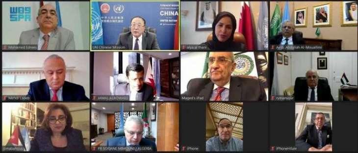 المملكة تقود تحركًا عربيًا في الأمم المتحدة لتسليط الضوء على التطورات الأخيرة في فلسطين