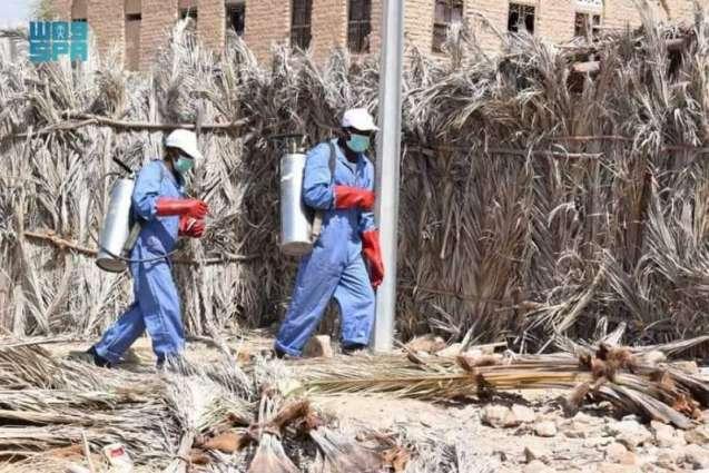 مركز الملك سلمان للإغاثة يواصل تنفيذ حملة الرش الضبابي لمكافحة الأمراض والأوبئة في مخيمات النازحين بالحديدة