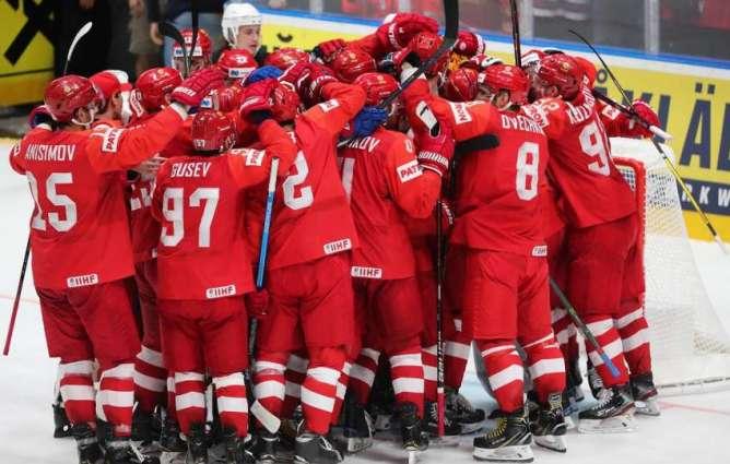 Russian National Ice Hockey Team Defeats Czech Team 4-3 at IIHF World Championship