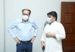 Provincial Minister of Sindh for Local Government & Information,  Nasir Hussain Shah visited the Arts Council's vaccination center on Monday.