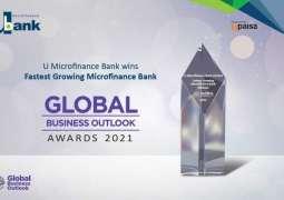 U Microfinance Bank Ltd. (U Bank) wins 'Fastest Growing Microfinance Bank in Pakistan' at Global Business Outlook Awards, 2021