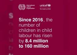 Child labour rises to 160 million – first increase in two decades: UN