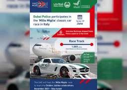 Dubai Police represents UAE in 'Mille Miglia' classic car race in Italy