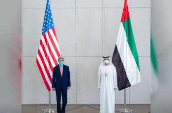 """مبعوث الإمارات للتغيّر المناخي يبحث مع نظيره الأمريكي تعزيز العمل المناخي قبل انعقاد مؤتمر """"COP26"""""""