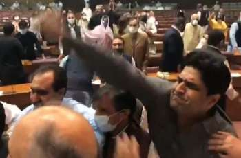 NA speaker suspends seven MNAs' membership over fight, abuses in the house