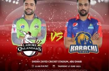 Karachi Kings and Lahore Qalandars will face off in Abu Dhabi today