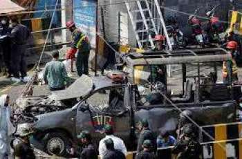 Blast in Lahore shatters windowpanes of nearby buildings in Lahore