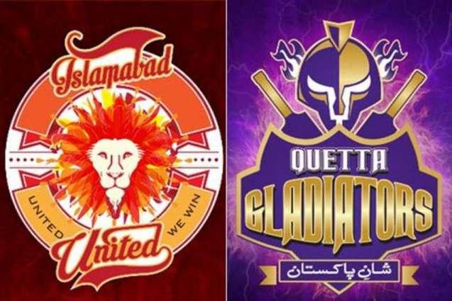 Quetta Gladiators will take on Islamabad United tonight