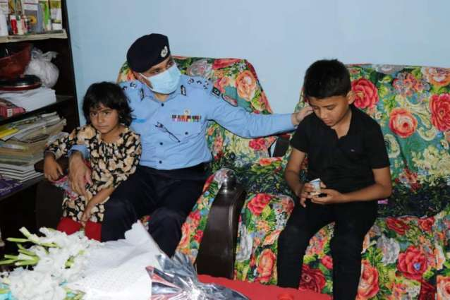 IGP visits family of martyred cop