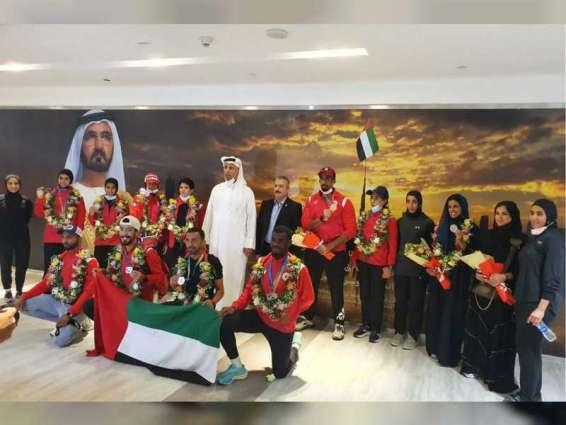 15 ميدالية ملونة لمنتخب الإمارات في البطولة العربية للرماية
