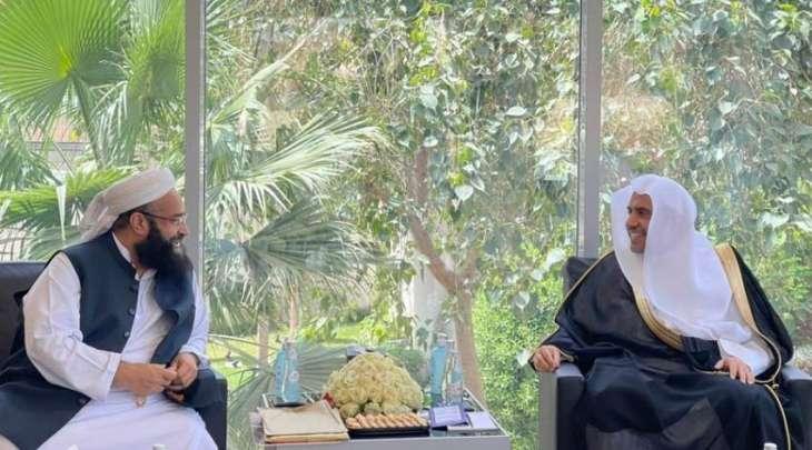 مستشار رئیس وزراء باکستان لشوٴون الشرق الأوسط یجتمع مع الأمین العام لرابطة العالم الاسلامي بمدینة الریاض