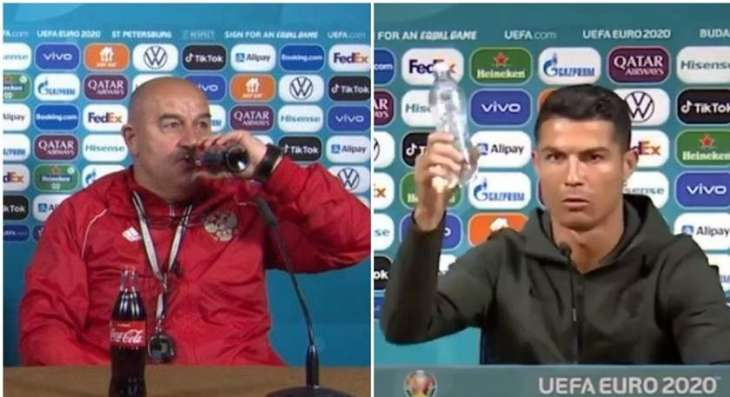 Head Coach of Russian Football Team Bucks Coca-Cola Replacement Trend at Pressers
