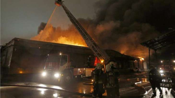 Fireworks Warehouse Supposedly Burning in Moscow
