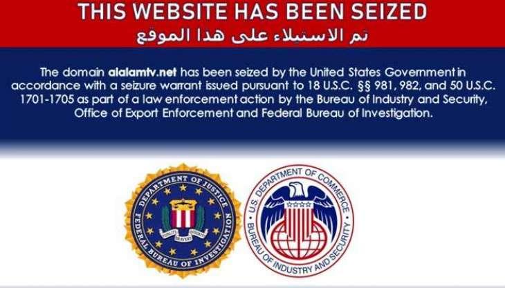 US seizes Iranian Press TV, 33 websites and Iraqi group Kataeb Hezbollah