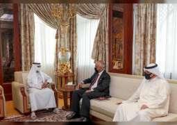 Nahyan bin Mubarak receives Bahraini and Singaporean ambassadors
