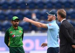 England won the toss, opt to bowl first against Pakistan
