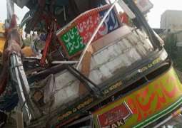 At least 27 killed, dozens injured after bus collided with trailer in DG Khan