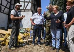 Merkel Says Many Germans Did Not Receive Flood Alerts Due to Mobile Network Outages