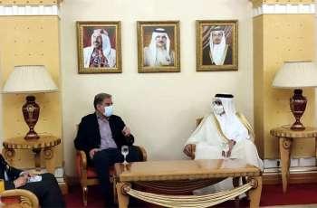 FM Qureshi arrives in Manama