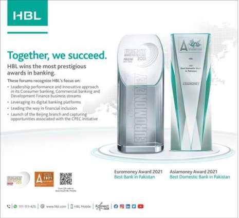 """HBL wins """"Best Bank in Pakistan 2021"""" award by Euromoney"""