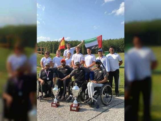 أبطال زايد العليا لأصحاب الهمم يحققون نتائج متميزة فى بطولة التشيك الدولية لرماية الشوزن