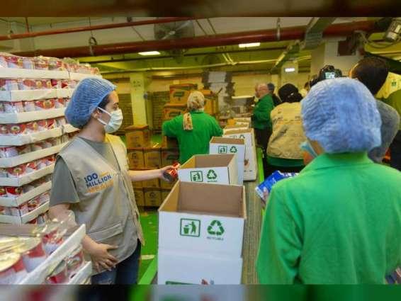"""""""حملة 100 مليون وجبة"""" تنجز توزيع أكثر من 30 مليون وجبة بالتعاون مع الشبكة الإقليمية لبنوك الطعام في مصر"""