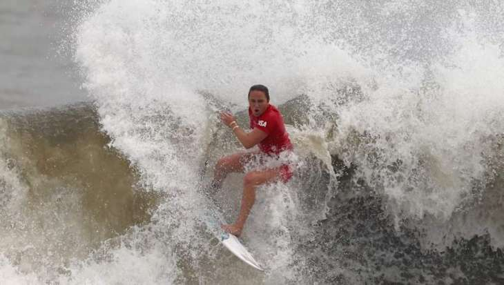 Carissa Moore From US Wins Olympic Gold Medal in Women's Surfing at Tokyo Games