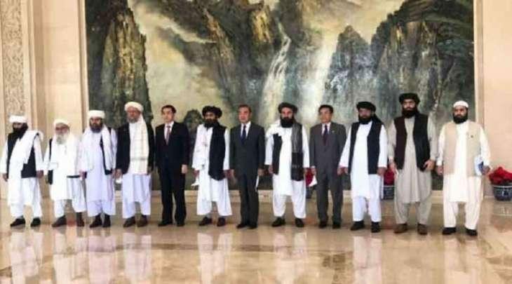 """وفد من حرکة """" طالبان """" یجتمع مع وزیر الخاجیة الصیني"""