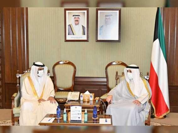 وزير الخارجية الكويتي يستقبل وفد المجلس الوطني الاتحادي