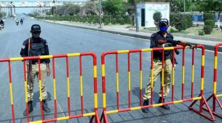 اغلاق کامل فی مدینة کراتشي للوقایة من تفشي فیروس کورونا