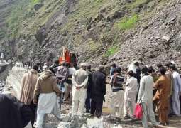 Karakoram Highway blocked at three points due land-sliding