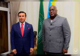 President of Congo receives UAE candidate for INTERPOL presidency