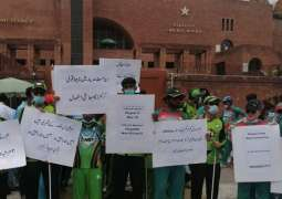 Visually impaired cricketers protest against low budget
