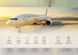 Etihad Cargo's tonnage up 20% on pre-COVID volumes
