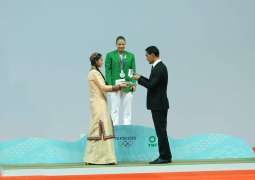 Honoring of the Olympic medalist of Turkmenistan took place in Ashgabat