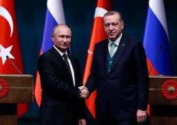 Putin, Erdogan Exchange Condolences Over Russian Be-200 Plane Crash in Turkey