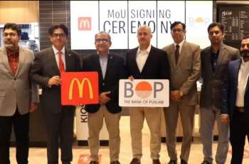The Bank of Punjab and McDonald's Pakistan signs MoU for installation of ATMs at selected McDonald's outlets