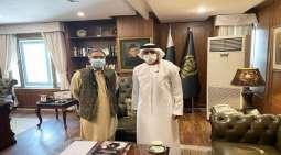 وکیل وزارة خارجیة باکستان یستقبل سفیر دولة الامارات لدي اسلام آباد