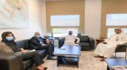 سفیر باکستان لدی دولة الکویت یجتمع بمساعد وزیر الخارجیة للشووٴن الاقتصادیة