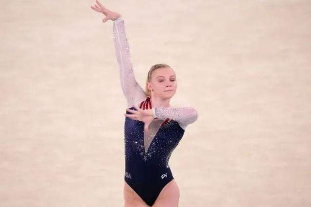 Jade Carey From US Wins Gymnastics Gold in Women's Floor Exercise Event at Tokyo Olympics