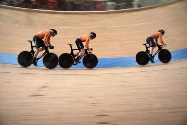 Netherlands Wins Men's Team Sprint Race on Cycling Track at Tokyo Olympics