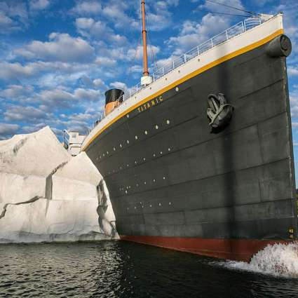 Iceberg Exhibit Collapse at Titanic Museum Injures 3 People - Owners